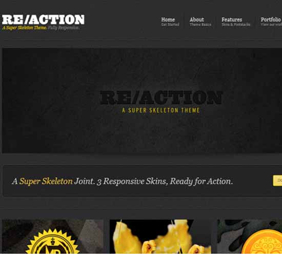 Reaction WP : Responsive, Rugged, Bold