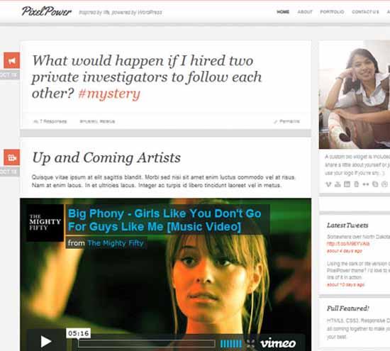 PixelPower – Responsive HTML5/CSS3 WordPress Theme