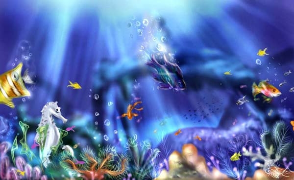 Underwater Digital Paintings