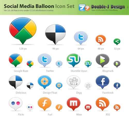 34-Social Media Balloons