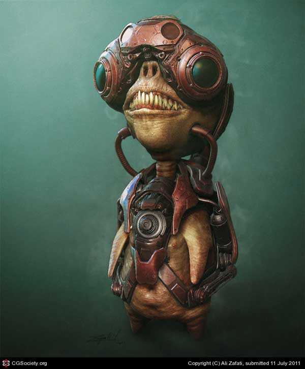 8-LITTLE ALIEN, Ali Zafati (3D)