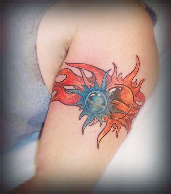 Sun Armband Tattoo