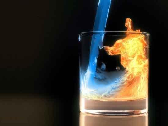 Water & fire Digital artwork