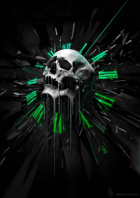 Skull Digital artwork