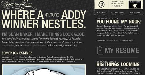 Excellent Typography webdesign