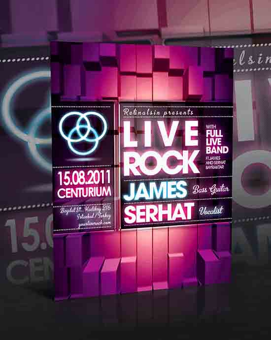 Live Rock Flyer Design