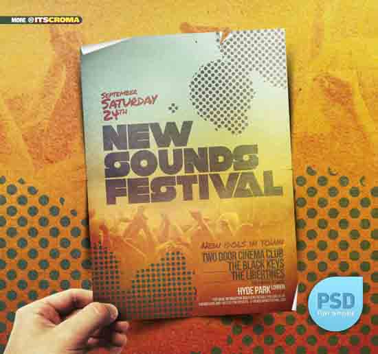 Sounds Festival Flyer Design