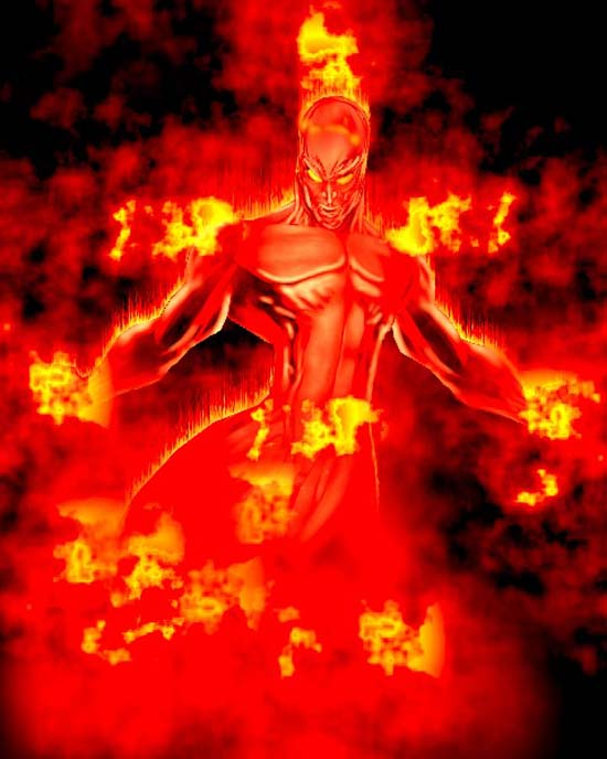Fire and Fire Human Torch