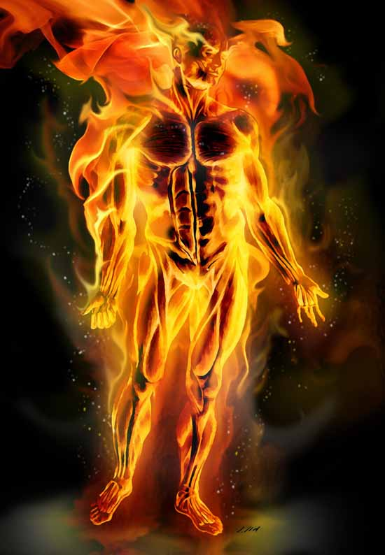 Full fire Human Torch