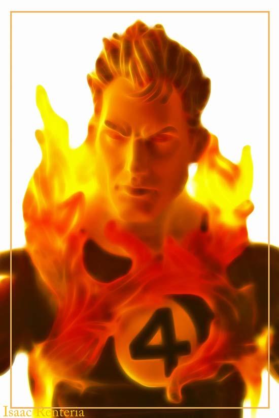 Flame onHuman Torch