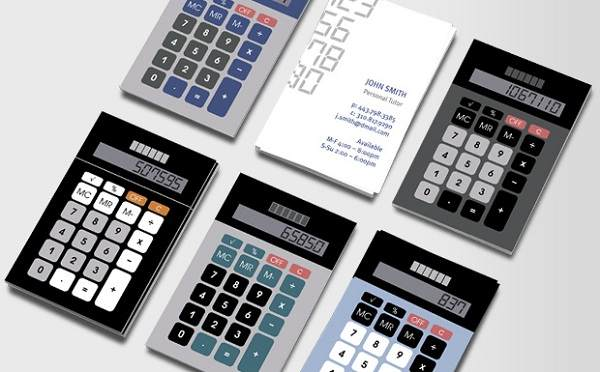 Retro Calculator as Business Card