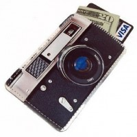 Retro Camera Business Card Case