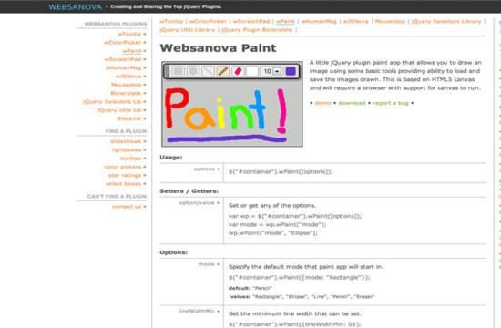 Websanova Paint