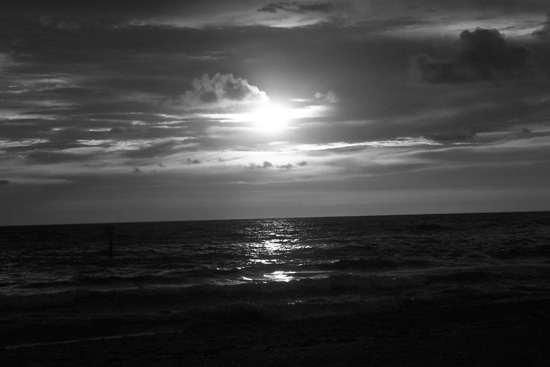 Cloudy Black and white photography