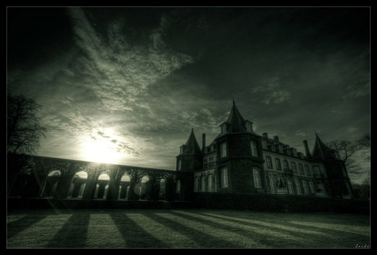 Castle Black and white photography
