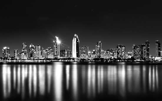 City Black and white photography