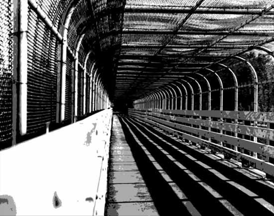 Tunnel Black and white photography