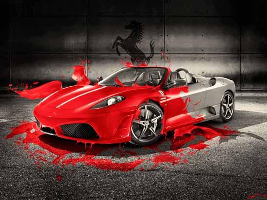 Ferrari Red splash