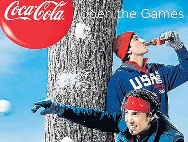 Coca cola Olympics add in Blue