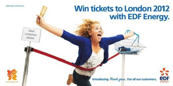 edf Energy Introducing Thank Yous, Checkout tickets to London