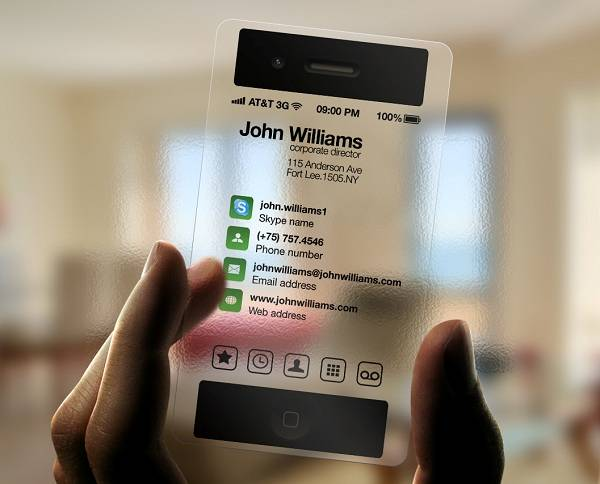 I-Phone Business Card in Transparent