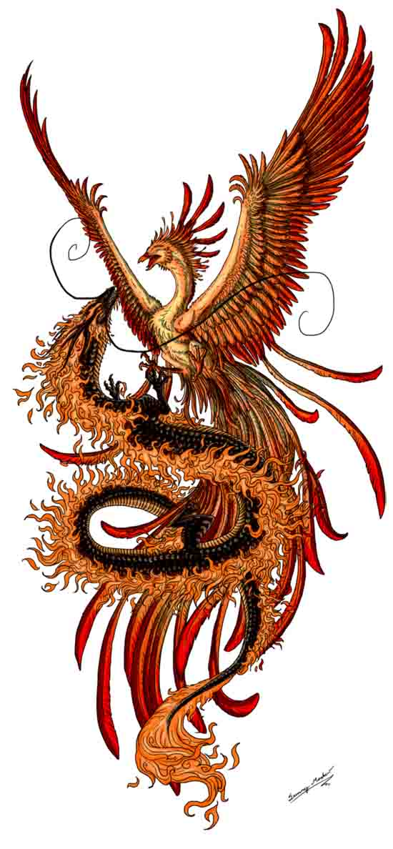 meaning of phoenix and dragon