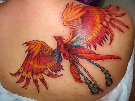Back side Phoenix Tattoo