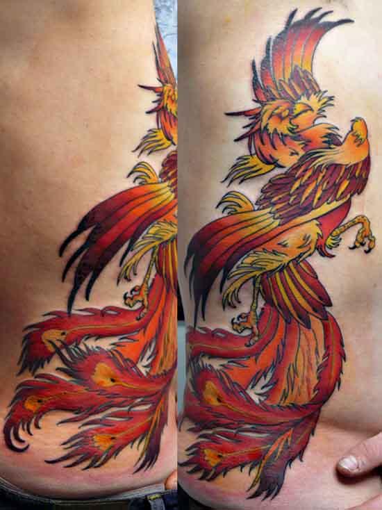 Side Phoenix Tattoo