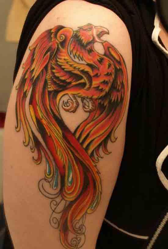Arm Phoenix Tattoo