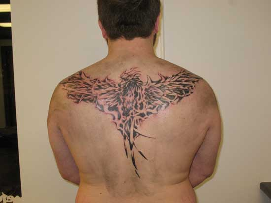 Back side Phoenix Tattoo