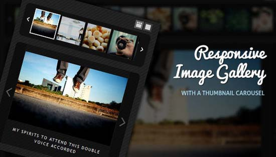 1-Responsive Image Gallery with Thumbnail Carousel