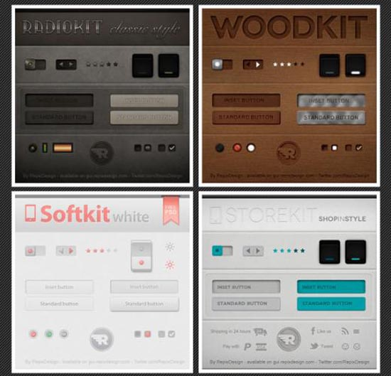 11. 4 UI Kits by RepixDesign