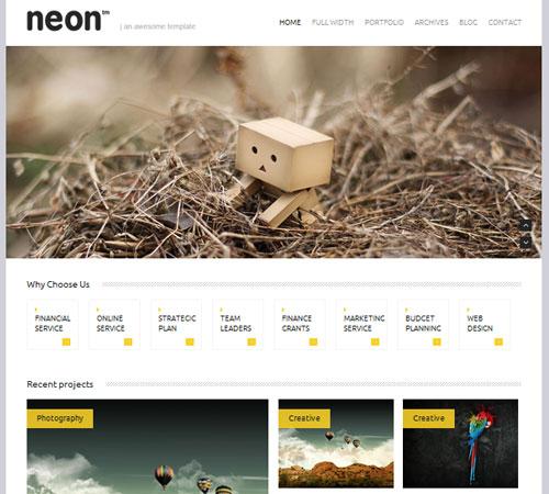 12-Neon-portfolio-wp-themes