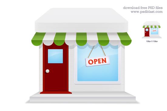 17-Online Store Icon