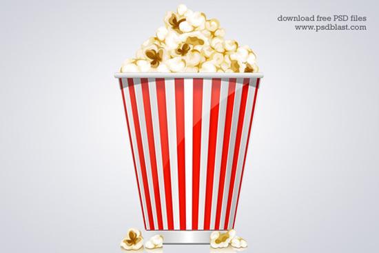 6-Popcorn Box Icon