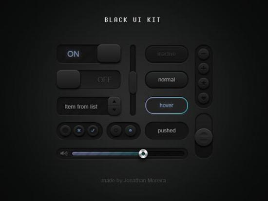 Black UI Kit