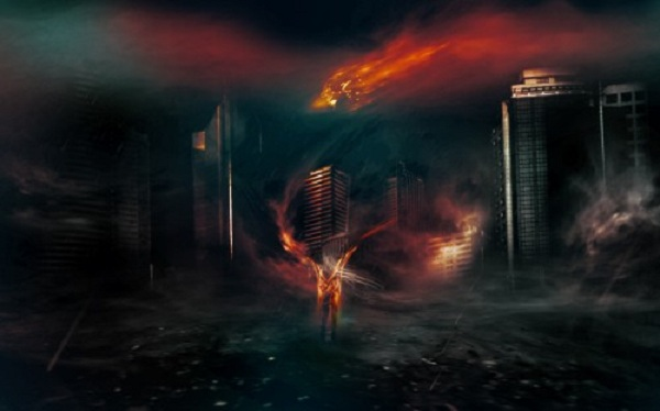 Create a Surreal Dark City with Meteorite Fall Scene in Photoshop