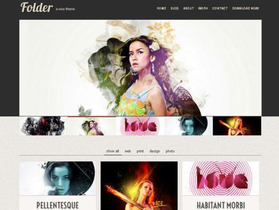 Folder Template for Business or Portfolio