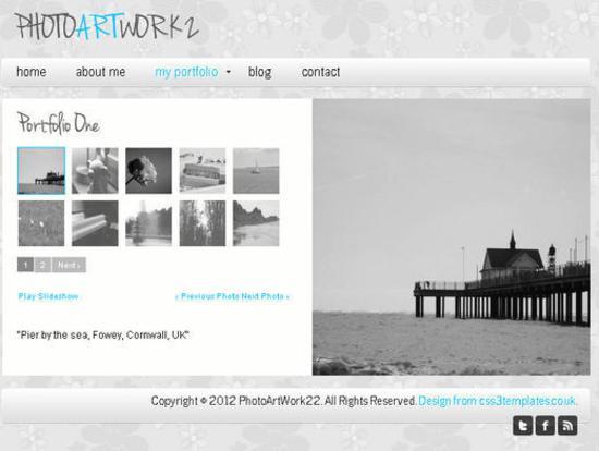 PhotoArtWork2 Template for Photography blog or Portfolios