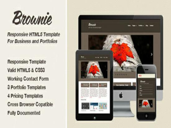 35 free and responsive website templates responsive brownie template for business or portfolio wajeb Choice Image
