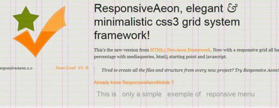 Responsive HTML5 Aeon Framework