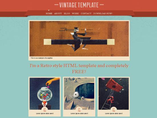 Vintage_ A Stylish Portfolio HTML Template