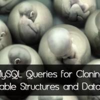 mysql table cloning