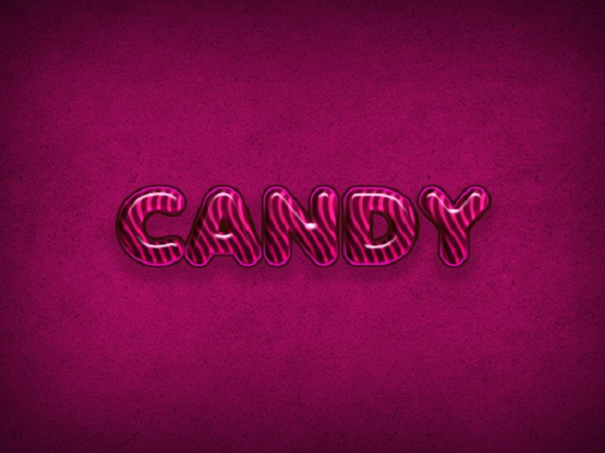 Creating a Candy Cane Text Effect