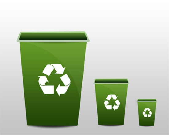 Design Soft Green Recycle Bin Icon In Photoshop