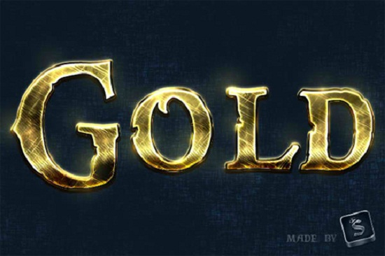 How to Make Shiny, Gold, Old World Text Effect