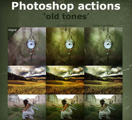 Old Color Tones Actions
