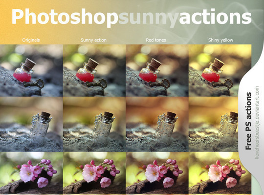 Photoshop sunny actions free