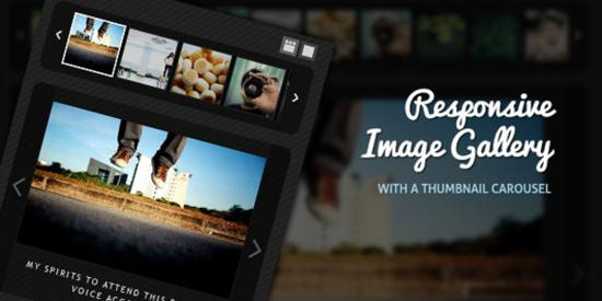 Responsive Image Gallery with a Thumbnail Carousel