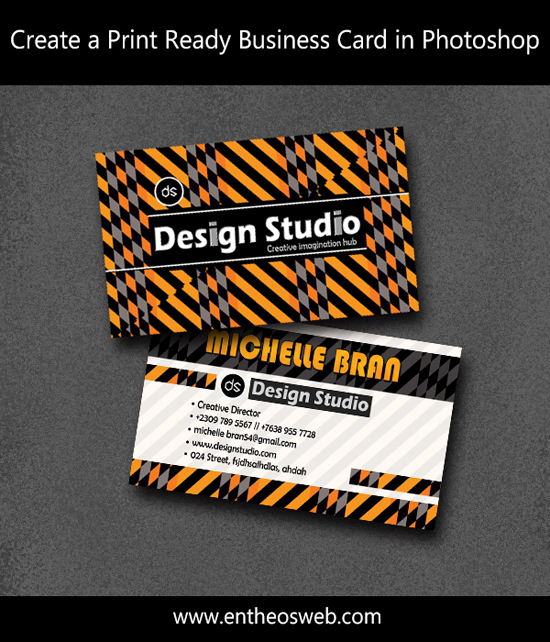 18-Print Ready Business Card in Photoshop